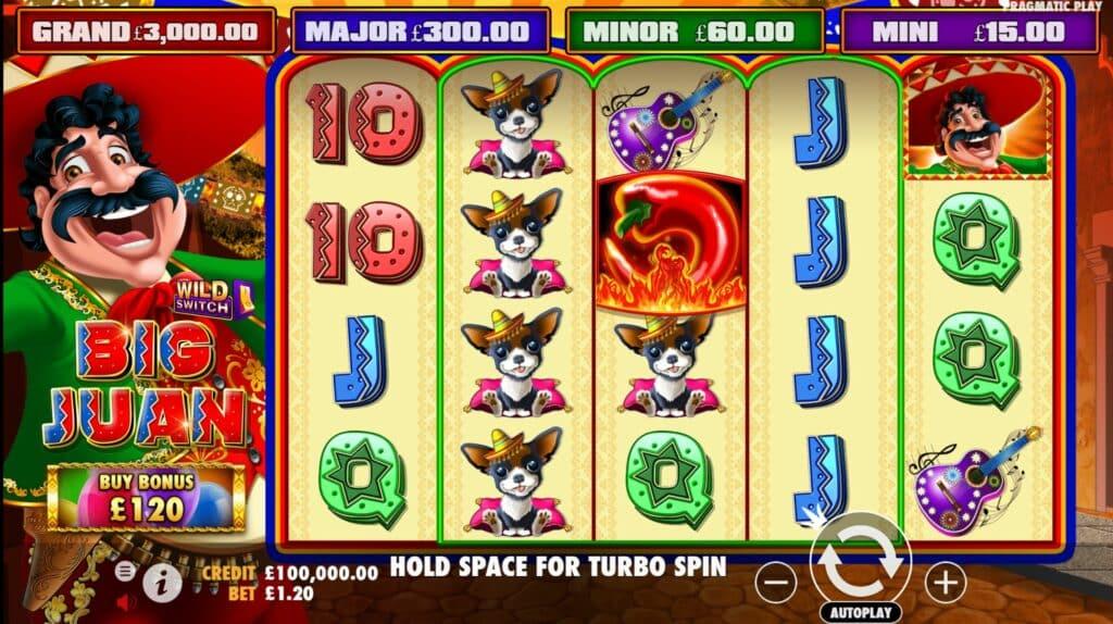 Big Juan Slot Review  Pragmatic Play Casino Bonus Visuals Volatile Symbols
