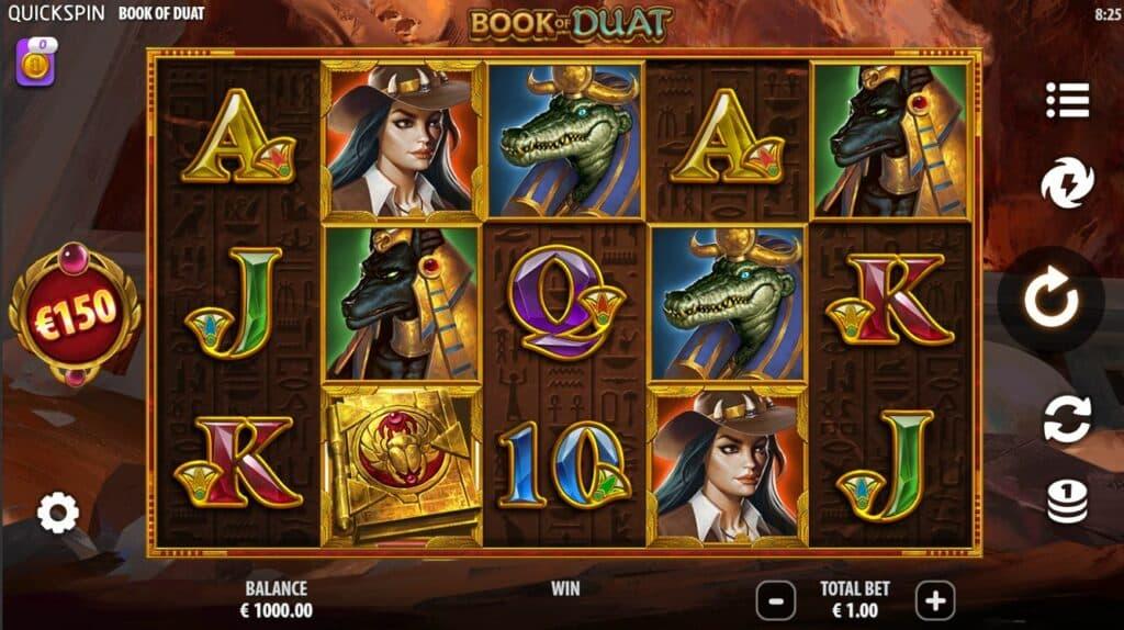 Book Of Duat Slot Review  Quickspin Casino Bonus Visuals Symbols Volatile